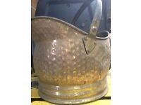Antique Brass Coal Bucket