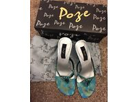 Teal party heels size 4