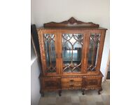 BEAUTIFUL FRENCH SOLID WOOD LARGE SIDEBOARD STORAGE CABINET - (AUTHENTIC)