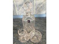 Edinburgh crystal Decanter with a jug and bowl