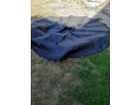10 foot Trampoline with high spec mat. Comes with safety padding and safety enclosure
