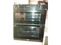 Built in Double Oven with Grill - Black. Made by Stoves