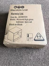 Small Black bedside cabinet