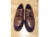 Mens Brown Brogue Leather Shoes Uk size 7