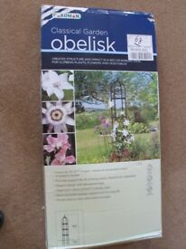 Brand new, Gardman Classical Garden Obelisk. Unopened in packaging.