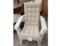 Conservatory / garden chairs (pair) with covers - as new