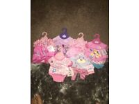 Brand new baby born clothes