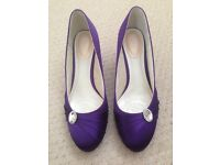 Purple shoes 'Pink by Paradox London' dress / wedding /bridesmaid Size 8 (small 8?) worn once