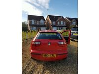 SEAT LEON RED | Economical 1.6 - Cheap TAX and INSURANCE |MOT - Quick Sale (no cupra ford focus )