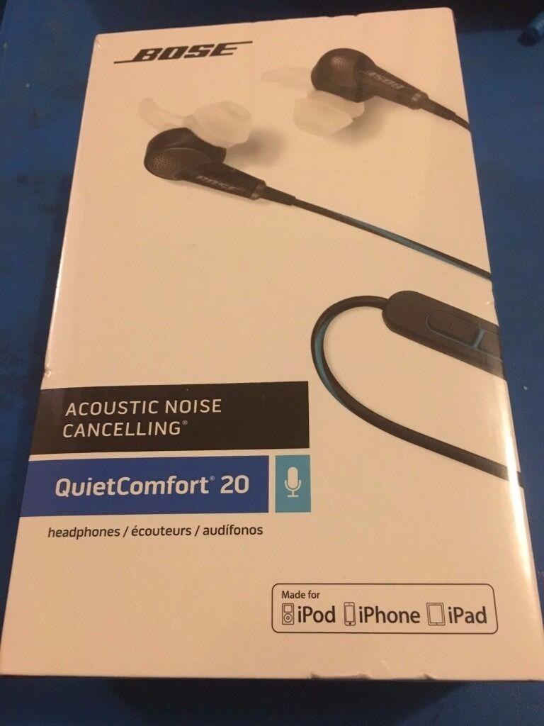 BOSE® QC20 Acoustic Noise Cancelling Headphones for Apple Black