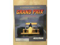 Microprose Formula one Grand Prix Game by Geoff Crammond Excellent condition