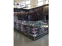 Retail display cabinets for sale.