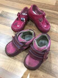 Girl's Shoes (Size 3.5). Pink. Trainer boots / Casual buckle shoe