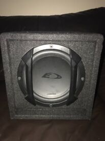 Alpine subwoofer with built in amp