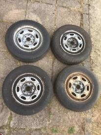 "VW Golf Mk2 GL 13"" 4x100 Steel Wheels With Tyres - Polo Lupo Mk1 Mk3"