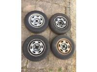 "VW Golf Mk2 GL 13"" 4x100 Steel Wheels With Tyres - Polo Lupo Mk1 Mk3"