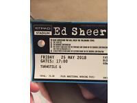 1 x Ed Sheeran ticket Manchester