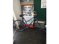 "Blue white handles hybrid female bike 22"" Inch"