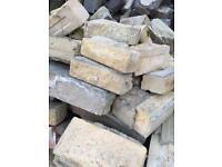 Large amount of sandstone walling