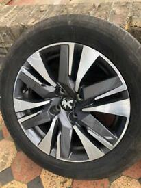 Peugeot 2008 2017 Diamond cut Alloy wheels