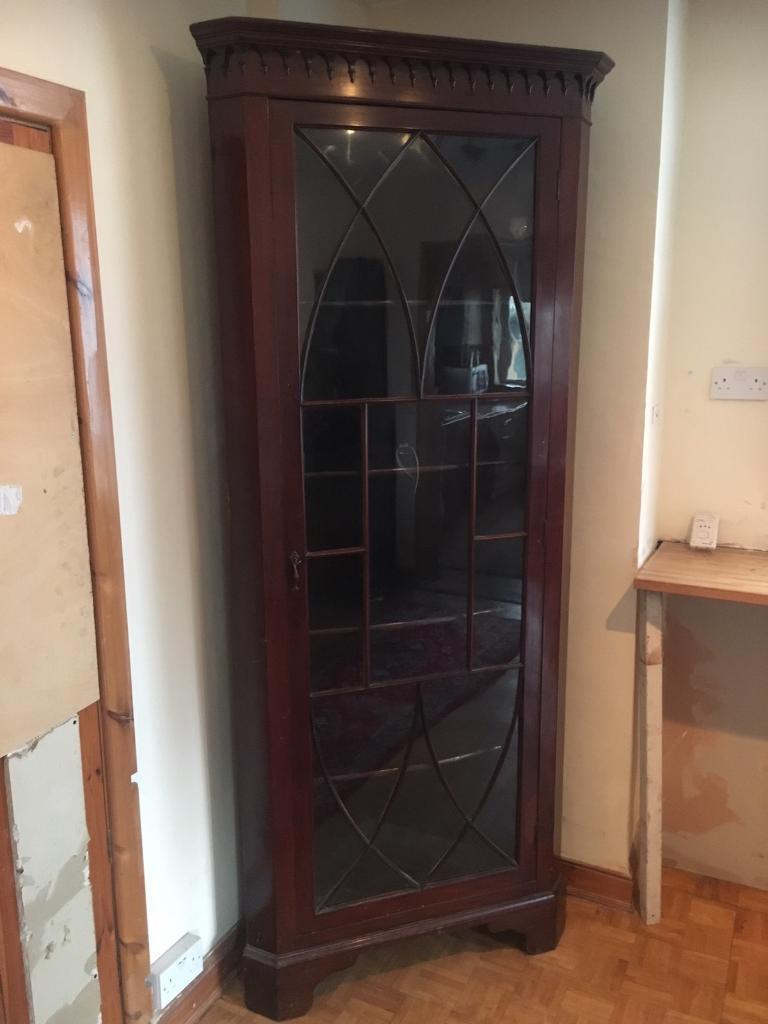 Antique Dining Bedroom Lounge Storage Display Corner Cabinet
