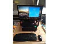 HP Elite Desktop PC (i5, 4GB, 500GB HD, Win10) + 23in Widescreen + Keyboard, Mouse Speakers