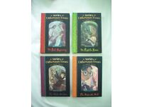 LEMONY SNICKET A Series of Unfortunate Events Hardback Books Set Collection 1-4 Pristine NEW