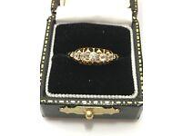 1988 Vintage 18ct yellow gold diamond 5 stone eternity ring