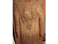 Sheer mesh crystal dress. Size 14
