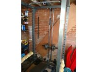 Bodymax heavy duty Power Rack with lat pulldown and bottom attachment.£300.00 ono