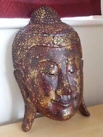 Decorative Wooden Buddha Head