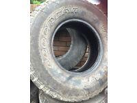 Shogun pajero tyres 265/70R15, 255/75R15
