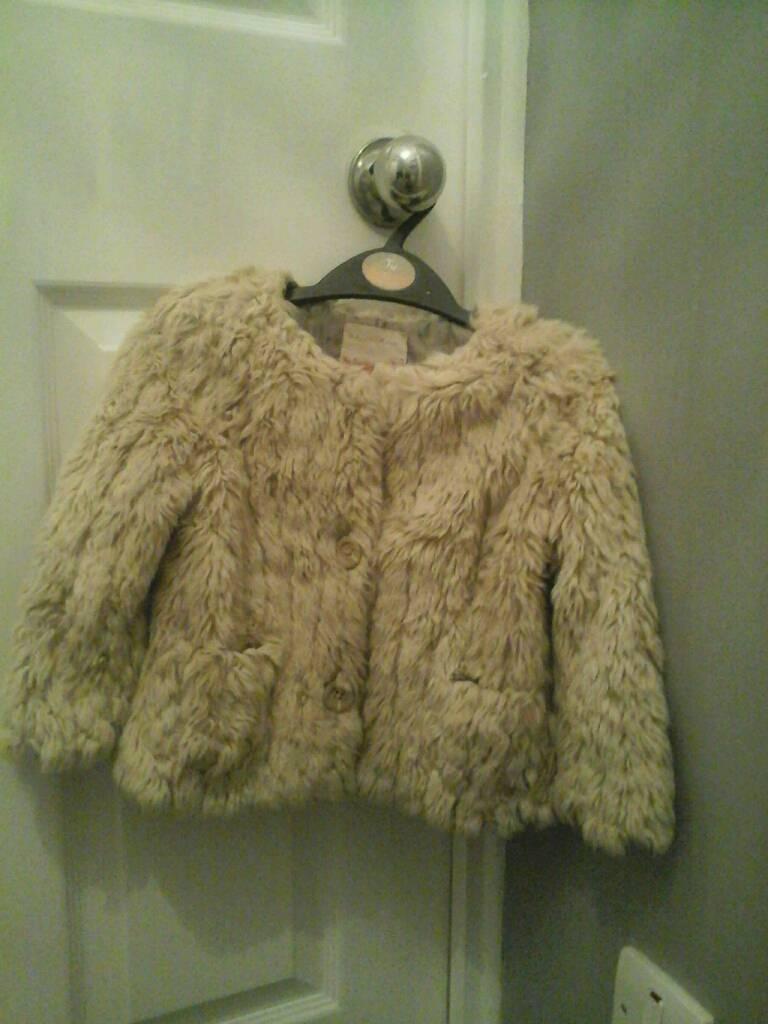 Girls Zara Fur Jacket