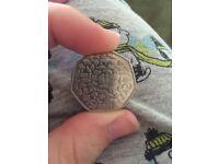 Rare wwf 50 p coin