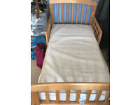 John Lewis Anna Junior and Toddler Bed,Oak colour