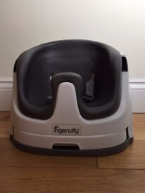 Ingenuity Baby Base 2 in 1 Booster Seat - Grey excellent condition