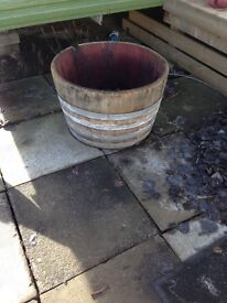 whisky barrel planters/ water butts