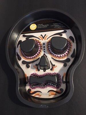 Wilton Halloween Skull Tube Cake Pan #2105-7792 non-stick No - Halloween Skull Cake Pan