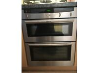Neff double oven, hob and extractor hood