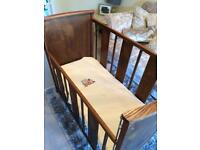 Vintage drop down cot made by Triang