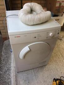 Bosch tumble dryer with vent.