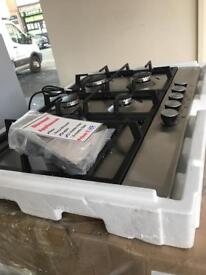 Stainless steel 5 burner hob new 12 month gtee £169