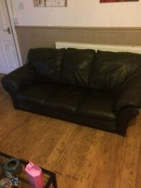 Sofa seate brown free 3 seats
