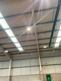 Warehouse garage lighting low bays 250w