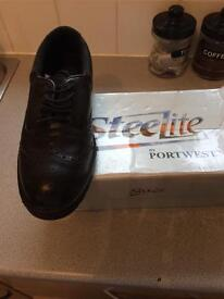 Steelite brogue steel toe cap shoes 10