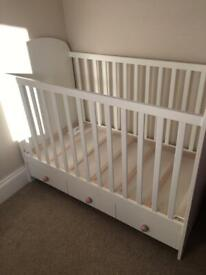 White Ikea cot bed