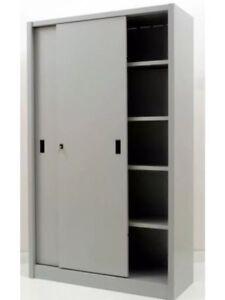 Mobile armadio archivio per ufficio in metallo ante for Mobile ufficio ante scorrevoli