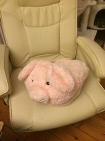 Giant pig slipper