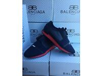Brand new Balenciaga Runners - Blue with red sole