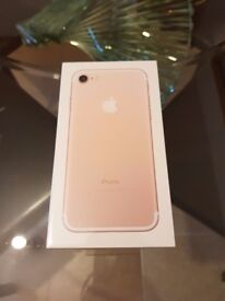 BRAND NEW IPHONE 7 128GB ROSE GOLD EE NETWORK